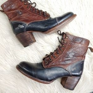 BED STU LEATHER HEELED ANKLE BOOT SZ 10